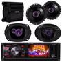 Kit Dvd Player Pioneer + Kit 4 Alto Falantes Pioneer +módulo