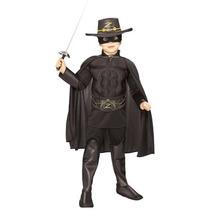 Zorro Muscle Chest Deluxe Toddler Halloween Costume Tamaño