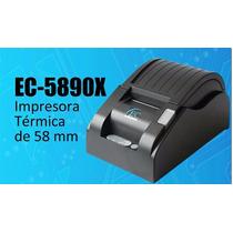 Impresora Termica Ec-5890x + Caja De Dinero Ec-g5100