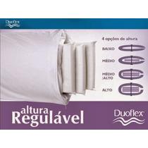 Travesseiro Altura Regulável 10 A 20 Cm Duoflex Ortopédico