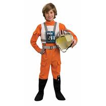 Star Wars Disfraz Traje Piloto X-wing Niño Talla L
