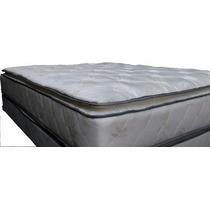 Colchon Super Reforzado Pillow Desmontable Dos Plazas Y Medi