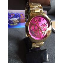 Relógio Feminino Marca Famosa Dourado Barato Tendência Mk