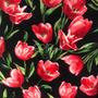 Flores Negro-Rojo (Polilycra)