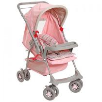 Carrinho De Bebê Galzerano Milano Reversível Rosa Promocao