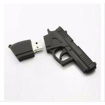 Pendrive 4 Gb Personalizado Pistola Arma Revolver