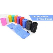 Teclado Flexível Usb Silicone Pra Notebook, Pc Windows E Mac