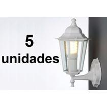 Kit 5un. Luminária Arandela Colonial Tlf 26 Taschibra Branca