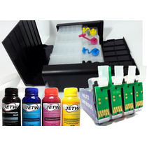 Bulk Cx5000 Cx6000 Dispenser Cx Preta + Tinta Sublimatica
