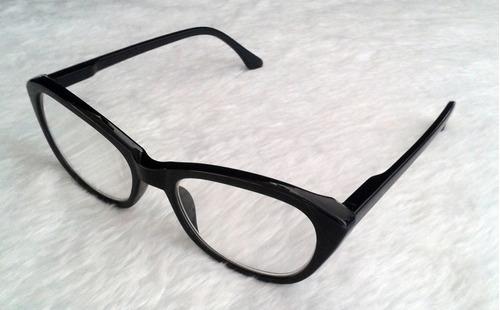 ca424de4b134f Armação Óculos Grau Feminino Gatinho Tartaruga   Preto - R  23