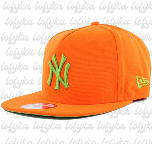 Boné New Era New York Yankees Original Aba Reta Ny Laranja - R  60 ... 06206733478