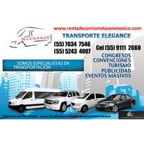 Renta Camionetas Df De Pasajeros Baratas Con Chofer Y Vans