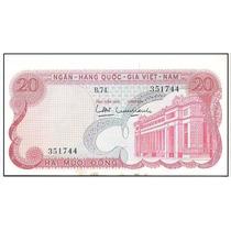 Vietnam Biillete De 20 Dong Año 1960 Xf