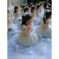 Souvenirs Comunión Nenas Rezando Porcelana Fria Nacarados