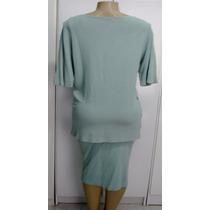 Terno Feminino Saia E Bata Cotton Colors Tam.g C/ Strech A-2