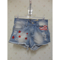 Shorts Jeans Feminino Usa Eua