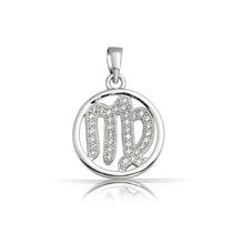 Colgante Bling Jewelry Signo De Zodiaco Virgo C/circonio