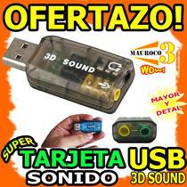 Wow Tarjeta De Sonido Usb Tipo Pendrive 3d Audio Microfono