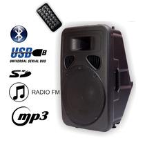 Bafle Potenciado Activo Usb Sd Bluetooth 12 1800w - La Roca