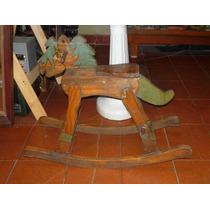 Antiguo Juguete Caballito De Madera Original Año 60 (----)