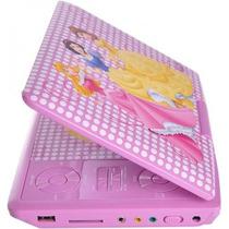 Dvd Portatil Dotcom Pdt-704 Disney Princesas Rosa Com Bolsa