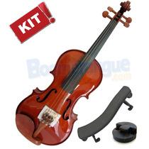 Kit Violino 4/4 Ve441 Eagle + Espaleira + Surdina + Estojo