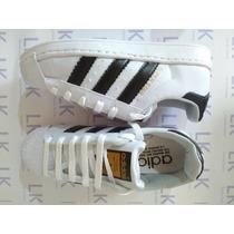 Zapatillas Adids Superstars Blancas Con Negro