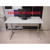 Mesa P/escritório 1,20x0,60 Cinza Sem Gaveta (usado)