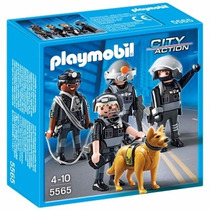 Brinquedo Playmobil City Action Equipe Polícia Tática 5565
