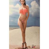 Bikini Moda Praia Biquíni Franjinha Blogueira Alegrastore