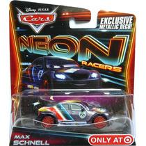Disney Cars 2 Max Schnell Neon Metalico Target Mcqueen