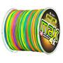 Linha Multifilamento 500m - Colorida Cor Muda De 1m Em 1m