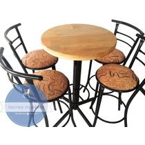 Mesas Periqueras Para Bar/cafeteria-madera/tela.