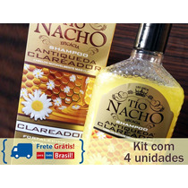 Kit Shampoo Antiqueda Clareador Tio Nacho Geleia Real