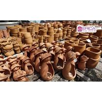 Enfeite Vaso De Cerâmica Jardins E Floricultura João E Maria