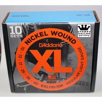 Daddario Exl110-10p Pack 10 Encordados Electrica 010