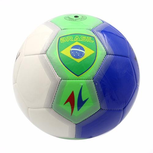 406f4f71bf Kit 10 Bolas Futebol Brasil Couro Sintético Costurado - R  280