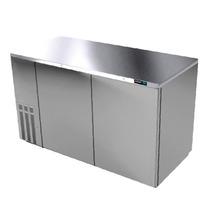 Asber Abbc-68-s Refrigerador Contrabarra Acero Inoxidable