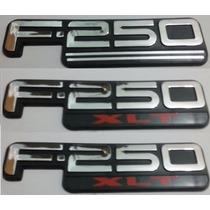 Kit Emblemas F-250 Xlt F250 Xlt Traseiro E Laterias + Brinde