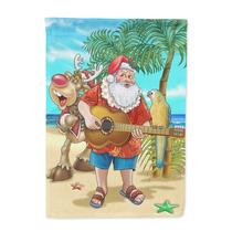 Navidad De La Playa De Santa Claus Tiempo De La Isla De La B
