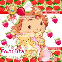 Kit Imprimible Frutillita Bebe Candy Bar Tarjetas Cotillon