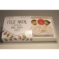 10 Kit Natal Com Toalha Bordada E Sabonete Final De Ano