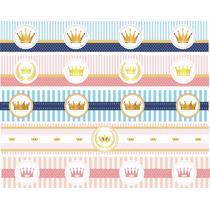 Faixa Border Decorativa Infantil Coroa Menina Menino Reino