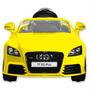 Auto Audi A Batería Para Niños Amarillo