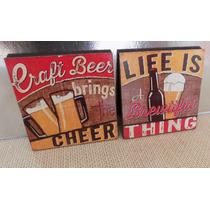 Cuadros Decorativos Cerveza /beer Vintage (2pz) Vinilo