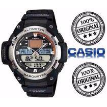 Relogio Sgw 400h1b Prata Termometro Barômetro Altimetr