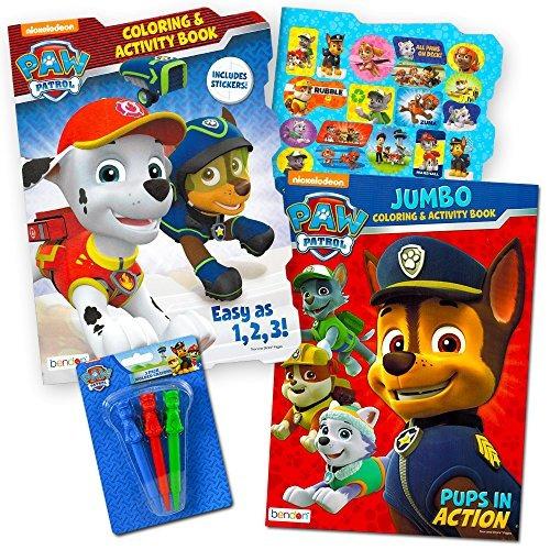 Paw Patrol Coloring Libro Super Set 2 Libros Colorear Y Acti ...