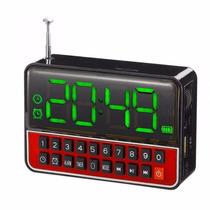 Rádio Relógio Fm Projetor Digital Hora Alarme Despertador