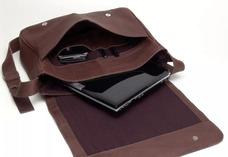 8630e4f9724 Pasta Carteiro Couro 100%legítimo Bolsa Notebook Tablet Ipod