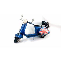 Miniatura Lambreta Azul 1965 Em Metal Decorativa